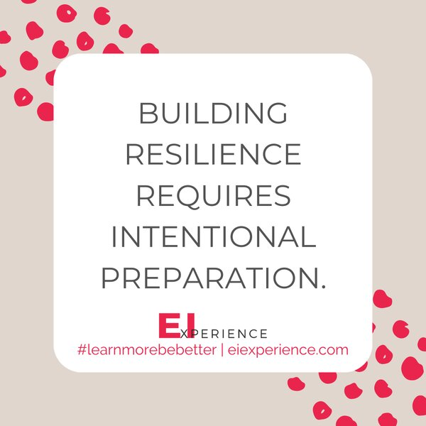 Building resilience requires intentional preparation