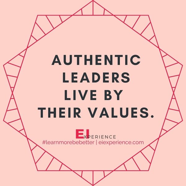 Authentic Leaders Live by their values