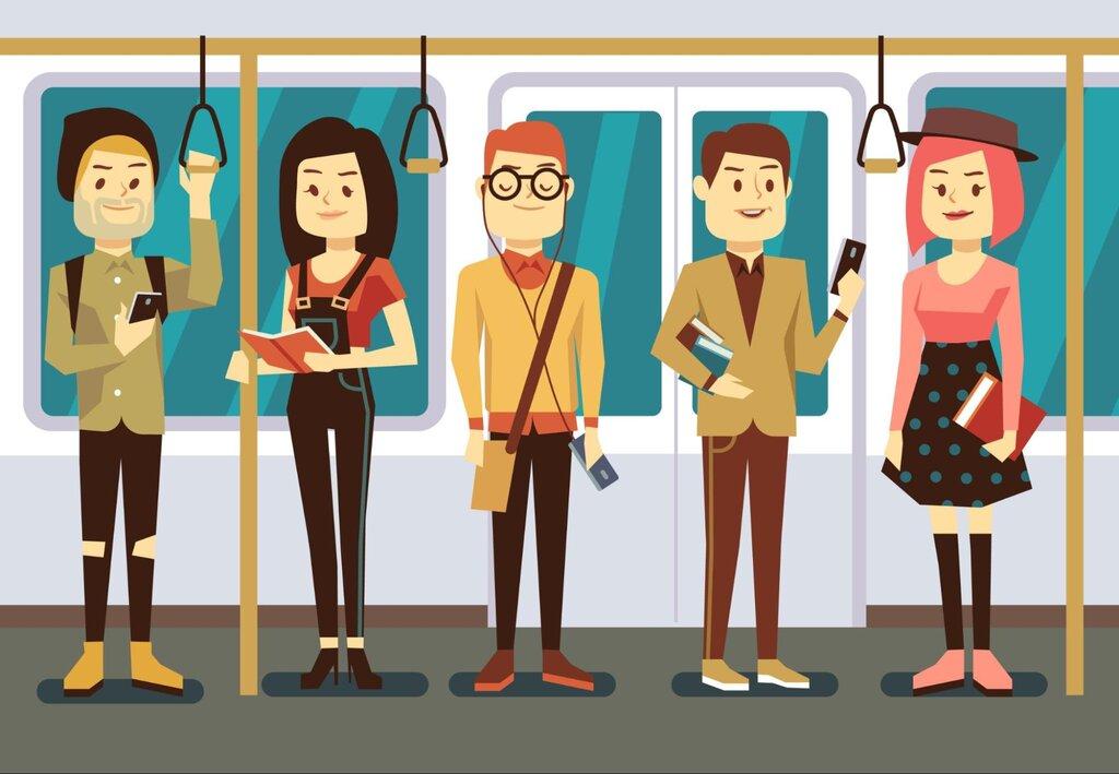 public transit bus group